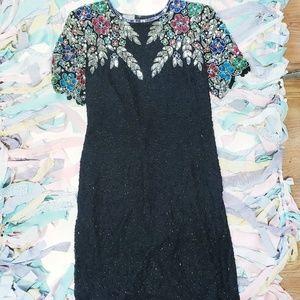 Vintage Sténay Silk Beaded Dress